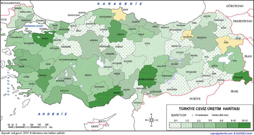 Turkey Fruit Growing Map | Which fruits grow in Turkey? https://scagriconsult.com